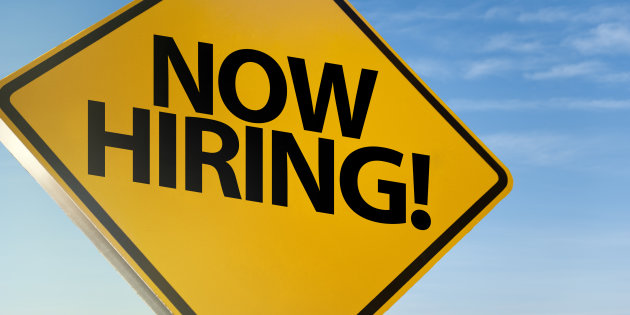 NOW HIRING! / Traffic sign concept (Click for more)